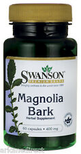 Magnolia Bark - MASSIVE 400mg x 60 Capsules - Magnolia Officinalis - SWANSON