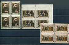 RUSSIA YR 1956,SC 1805-07,MI 1826-27,BLOCKS 4,MNH,PAINTER V.PEROV