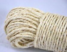 20 Meter Wäscheleine Sisal Seil Strick Leine geflochten Natur Naturfaser Katze