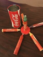 Vintage Coca Cola Coke Tin Candle Holder & 6 Jumbo Emergency Candles