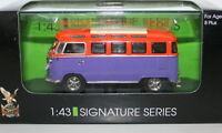 ROAD SIGNATURE 1/43 43209 1962 VW MICROBUS PURPLE/ORANGE