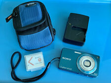 Sony Cyber-shot W350 14.1MP Digital Camera - Blue w/Charger, Xtra Battery, Case