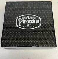 Rare Pinocchio 70th Anniversary Carbon Fiber Box 2009 Disney Memorabilia Collect