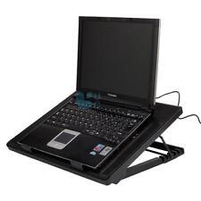 """15.4"""" 19"""" Laptop USB 5 Fans LED Light Cooling Cooler Adjustable Stand Pad"""