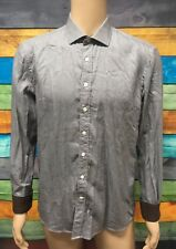(Used) Mens SABA Long Sleeve Button Front Shirt Size: L Checks Flip Cuff
