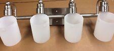 4-Light Brushed Nickel Vanity Light Bathroom Lighting