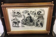 J C DOLLMAN OUR ARTISTS NOTES AT A DOG SHOW LARGE PRINT FRAMED