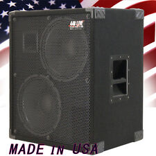 2X12 Bass Guitar Speaker Cabinet 700W RMS 4 Ohm Black Carpet  440LIVE BG2X12HTBC