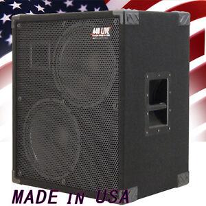 2X12 Bass Guitar Speaker Cabinet 700W RMS 4 Ohm Black Carpet  440LIVE BG2X12HTBC