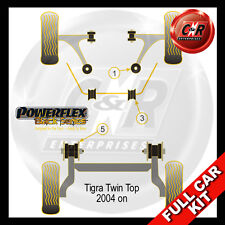 Vauxhall / Opel Tigra Twin Top (04-) Powerflex Black Complete Bush Kit