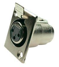 Cannon XLR 3 poli Femmina da Pannello (verticale), in Metallo -  233325