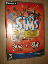 N°2 PC CD-ROM THE SIMS COLLECTION DELUXE EDITION + HOT DATE EXPANSION PACK