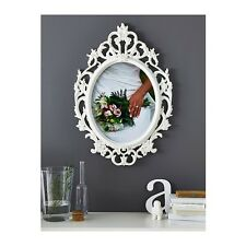 Ikea Ung Drill Large White Oval Picture Frame Vintage Inspired 602.328.13