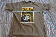 Bob Marley Roots Reggae Rebel Music T-Shirt Men XL Khaki