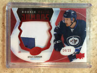 16-17 UD ICE #RRJ-KC Rookie Relics Jumbos Patch KYLE CONNOR Red RC /15