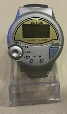 Vintage Tel Time M9908 Digital Talking Wristwatch! Neat Piece! Free Ship!