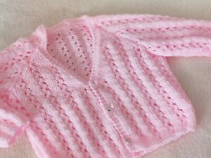 Pink Lacy Cardigan  16in chest