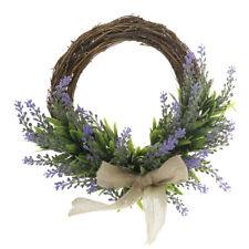 Vintage Rattan Simulation Lavender Wreath Ring Door Wall Home Wedding Decor