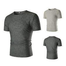 Running T Shirt Men Fitness Slim Fit Sports T-shirt Tees Tops Knitted Clothing