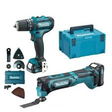 Makita CLX203AJX1 10.8V CXT 2x2Ah Li-ion Combi Drill Multi-Tool 2pc Kit