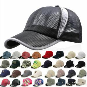 Unisex Mens Womens Adjustable Embroidered Baseball Cap Outdoor Sports Sun Hats