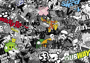 MARVEL COMIC STICKERBOMB X1 LAPTOP//NETBOOK SKIN//STICKER VARIOUS SIZES AVAILABLE