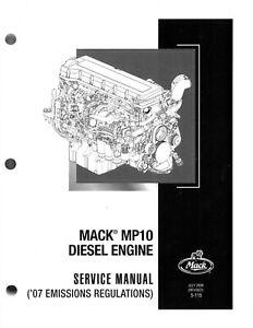 Mack MP10 workshop / overhaul manual