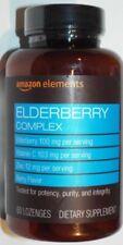 Amazon Elements Elderberry Complex Dietary Supplement - 60 Lozenges   Berry