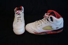 premium selection b6974 c2288 Nike Air Jordan Retro 5 kids size 7Y white fire red black 134092-