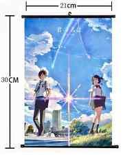 Hot Japan Anime kimi no na wa Your Name Wall Poster Scroll  Cosplay 1091