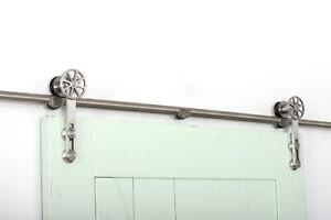 6.6/8FT Sliding Barn Door Hardware Kit Single Door Carbon or Stainless Steel