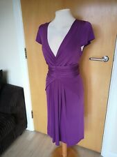 Ladies Dress Size 14 TRINNY AND SUSANNAH Purple Ruched Party Evening Wedding