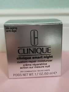 NIB! Clinique Smart Night Custom-Repair Moisturizer 2 dry combination - 1.7 floz