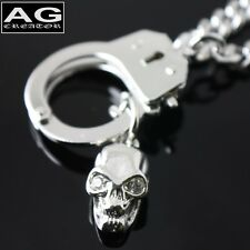 "Handcuff with skull fashion pendant 17"" chain necklace US SELLER"