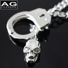 "Handcuff with skull fashion pendant 17"" chain necklace"
