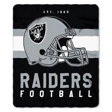"New Style Football Oakland Raiders Fleece blanket Soft Throw 50"" x 60"""