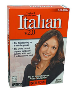 Instant Immersion Language Learning Italian (5 CD-Roms) - Designed for Beginners