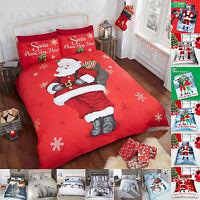 Christmas Duvet Cover Set King Size Double Single Super Quilt Bedding Santa New