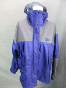 SOLSTICE SIZE L WOMENS PURPLE FULL ZIP NYLON WATERPOOF HOODED RAIN JACKET T343