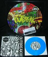 """OUTBREAK Self Titled 2009 Picture Disc Color Vinyl LP 12"""" NEW /100 OOP S/T + 7"""""""
