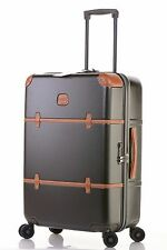 """$595 Bric's Bellagio Trunk Olive Checked Suitcase Spinner Luggage 27"""" BBG08303"""