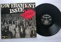 "Government Issue Live Vinyl 12"" LP Record Punk Rock Album Mystic First Pressing"