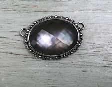 Stephen Dweck Sterling Silver And Faceted Stone Signed Pendant