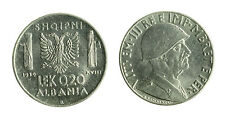 pcc1712_1) ALBANIA Vittorio Emanuele III  (1939-1943) 0,2 LEK 1939