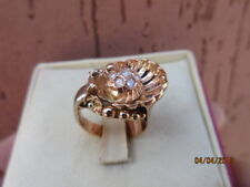 anello oro rosa 18.kt 750 diamanti brillante deco'