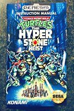 TMNT Teenage Mutant Ninja Turtles: Hyperstone Heist - Reproduction Manual - Sega