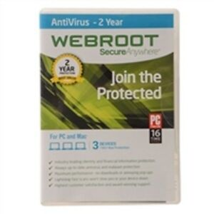 Webroot SecureAnywhere AntiVirus 2021 | 2 YEARS protection for 5 PC/MAC DEVICES