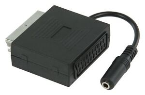 Scart Adapter With Stereo Audio (Scart male to 3.5mm jack female) 0.20m