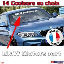 Lettrage Pare soleil BMW Motorsport - Sticker autocollant série 1 3 4 5 6 - 167