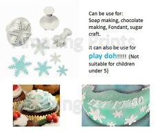 3 Snowflake Plunger Cutters Fondant Sugarcraft Cake parties Decoration Christmas